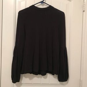FREE PEOPLE high neck, long sleeve blouse